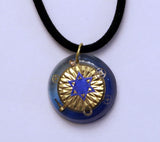 "Hand Crafted Judaica Pendant with Star of David and 18"" rope chain. One of a Kind Art  # P-104"