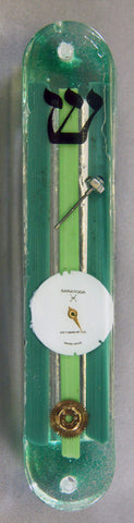 Hand Crafted Mezuzah for the Doorpost of your Home. One of a Kind Judaica Art # M-006