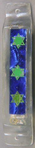Mezuzah - Hand Crafted Mezuzah for the Doorpost of your Home. One of a Kind Judaica Art # M-012