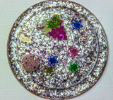 (4) Star of David Art Coasters for your home. One of a Kind Judaica Art #C-009