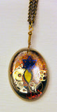 Hand Crafted Pendant with chain. One of a Kind Wearable Judaica Art  # P-019