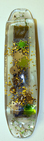 Hand Crafted Mezuzah for the Doorpost of your Home. One of a Kind Judaica Art # M-030