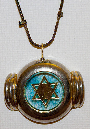 Hand Crafted Pendant with chain. One of a Kind Wearable Judaica Art  # P-031