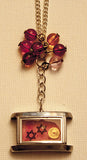Hand Crafted Pendant with chain. One of a Kind Wearable Judaica Art  # P-033
