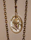2 Hand Crafted Pendants with double chain. One of a Kind Wearable Judaica Art  # P-035