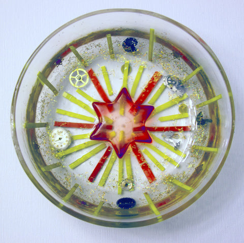 Hand Crafted Judaica Bowl with Star of David.  One of a Kind Judaica Art for your Home # B-005