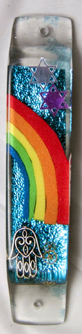 A Custom Mezuzah is Available for the Doorpost of your Home. Ask about a custom design.  One of a Kind Judaica Art