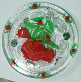 Hand Crafted Pomegranate Seder Plate.  One of a Kind Judaica Art for your Table SP-004