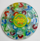Colorful Seder Plate.  Seder Plate. Passover Seder Plate. Pesach Seder Plate. Hand Made Seder Plate. Jewish Home Decor. Judaica Decor #SP-007