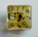 College Dreidel.  Request a Custom College Dreidel.  Hand Crafted Dreidel with stand.  One of a Kind Art