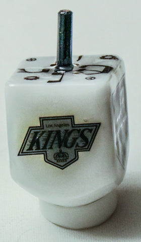 Los Angeles Kings Dreidel with stand. Customized Sports Dreidel.  Hockey Dreidel.  Chanukah Dreidel. Sport Dreidel.  Hanukkah Gift