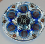 New York Yankees Seder Plate.  Can be Customized with your Favorite Team. Sports Seder Plate.  Baseball Seder Plate. SP-114