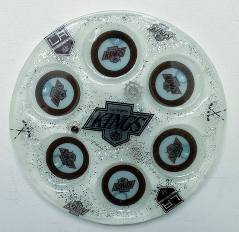 Los Angeles Kings Seder Plate.  Can be Customized with your favorite Team. Sports Seder Plate.  Hockey Seder Plate.  SP-112