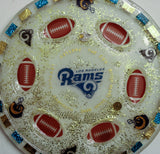 Los Angeles Rams Seder Plate.   Can be Customized with your favorite Team. Sports Seder Plate.  Football Seder Plate. SP-113
