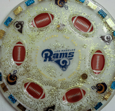 Los Angeles Rams Seder Plate Can Be Customized With Your Favorite