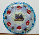 UCLA Bruins Football Seder Plate.  Customized Sports Seder Plate. Custom Hand Made Seder Plate. SP-117