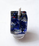 Broken Wedding Glass Dreidel with Stand.  Custom Dreidel with Wedding Glass.  You can also add your Names and Wedding Date.   Price is for one Custom Dreidel only,