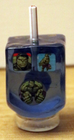 A Superhero Dreidel with Stand. Customized Dreidel.  # D-062