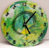 Lulav and Etrog Clock. Painted on recycled LP. Customized Clock.  One of a Kind Art # CL-117