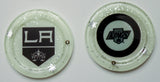 (4) Los Angeles Kings Art Coasters for your home. One of a Kind Judaica Art #C-015 - Request a Custom Set with your favorite Team