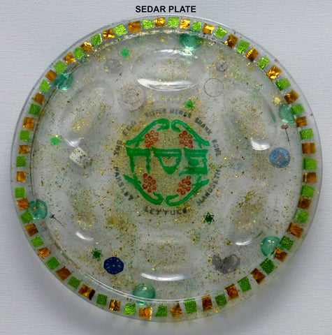 Hand Crafted Seder Plate.  One of a Kind Judaica Art for your Table SP-001