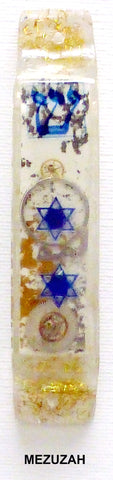 Hand Crafted Mezuzah for the Doorpost of your home. One of a Kind JUudaica Art # M-021