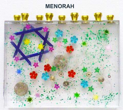 Hand Crafted Menorah.  Unique and One of a Kind Judaica Art for your Home # ME-002