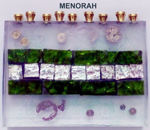 Hand Crafted Menorah.  One of a Kind Judaica Art for your Home # ME-004