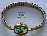 Hand Crafted Judaica Bracelet from Recycled Watches. One of a Kind Wearable Judaica Art  # BR-004