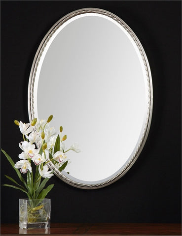 Uttermost Casalina Nickel Oval Mirror (01115) - UTMDirect