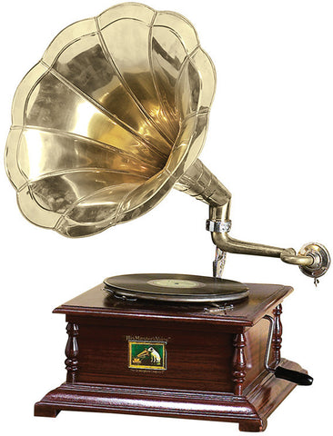 Benzara 05668 Wood Metal Gramophone Decor With Musical Blend