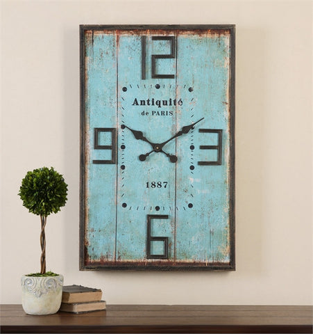 Uttermost Antiquite Distressed Wall Clock (06425) - UTMDirect