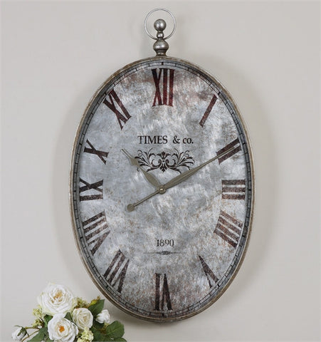 Uttermost Argento Antique Wall Clock (06642) - UTMDirect