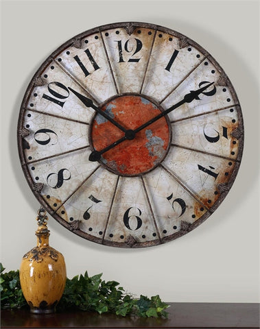 "Uttermost Ellsworth 29"" Wall Clock (06664) - UTMDirect"