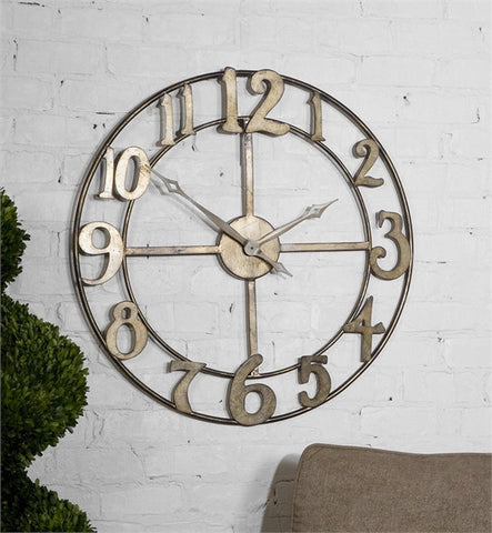 "Uttermost Delevan 32"" Metal Wall Clock (06681) - UTMDirect"