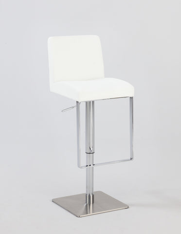Chintaly 0813-AS-WHT Pneumatic Gas Lift Adjustable Height Swivel Stool