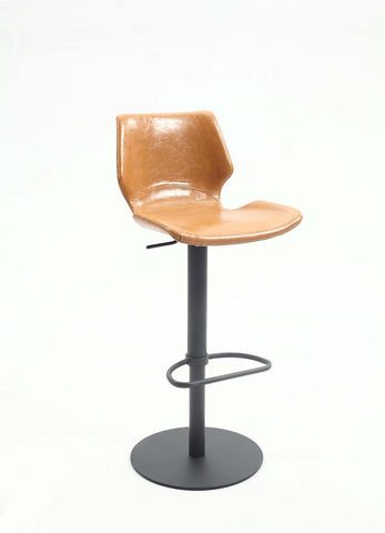Chintaly 0872-AS-CML Hi back vintage style pneumatic stool