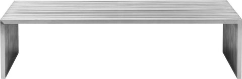 Zuo 100083 Novel Long Coffee Table Stainless Steel