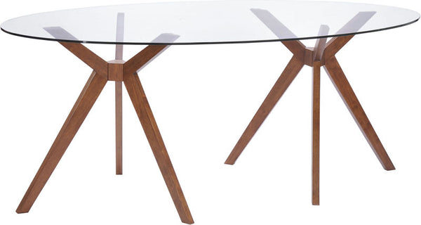 Zuo 100090 Buena Vista Dining Table Walnut 100090 Dining