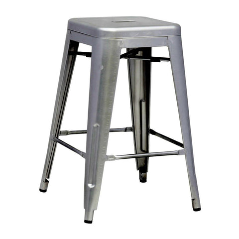 Fine Mod Imports FMI10015-25-gunmetal Talix Counter Stool, Gunmetal - Peazz Furniture - 1