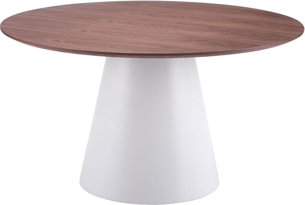 Zuo Modern 100271 Query Dining Table Color White Amp Walnut