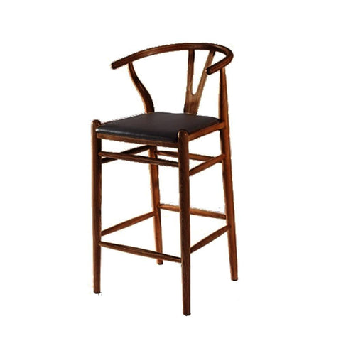 Fine Mod Imports FMI10030-walnut Woodstring Bar Stool Chair, Natural - Peazz Furniture