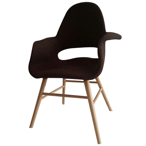Fine Mod Imports FMI10033-brown Eero Dining Chair, Brown - Peazz.com - 1
