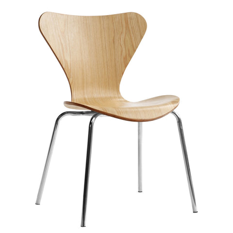 Fine Mod Imports FMI10050-natural Jays Dining Chair, Natural - Peazz.com - 1