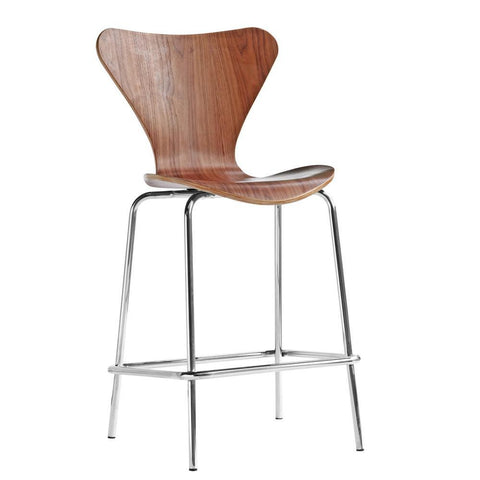 Fine Mod Imports FMI10051-walnut Jays Counter Stool, Walnut - Peazz Furniture - 1