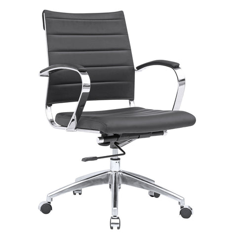 Fine Mod Imports FMI10077-black Sopada Conference Office Chair Mid Back, Black - Peazz.com - 1