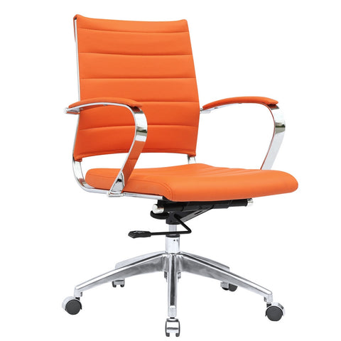Fine Mod Imports FMI10077-orange Sopada Conference Office Chair Mid Back, Orange - Peazz.com - 1