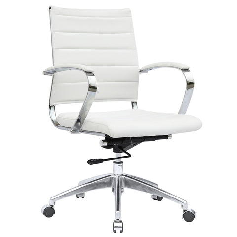 Fine Mod Imports FMI10077-white Sopada Conference Office Chair Mid Back, White - Peazz.com - 1