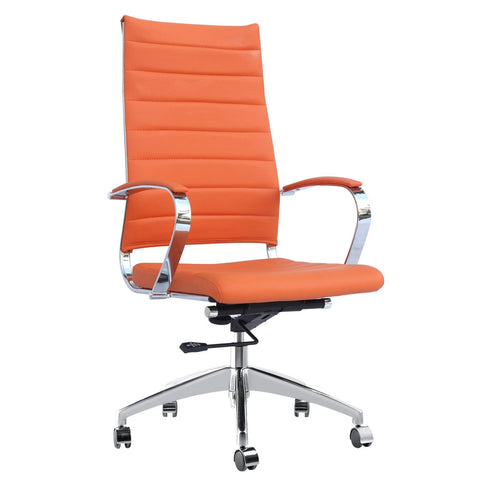 Fine Mod Imports FMI10078-orange Sopada Conference Office Chair High Back, Orange - Peazz.com - 1