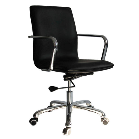 Fine Mod Imports FMI10170-black Confreto Conference Office Chair Mid Back, Black - Peazz.com - 1